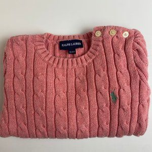 Ralph Lauren Thick Heavy Cable Knit Sweater Jumper Age 4